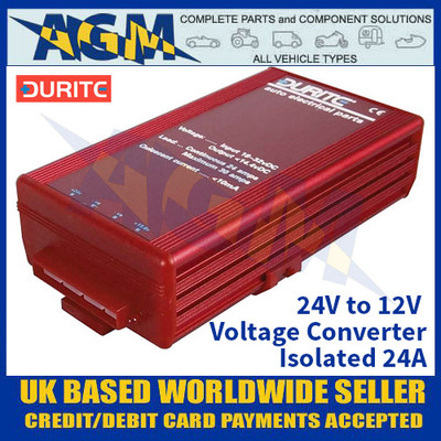 Durite 0-578-74 24V to 12V Voltage Converter - Isolated 24A