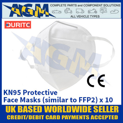 Durite 9-800-32 KN95 Protective Face Masks (similar to FFP2) - Box of 10