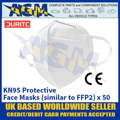 Durite 9-800-02 KN95 Protective Face Masks (similar to FFP2) - Box of 50