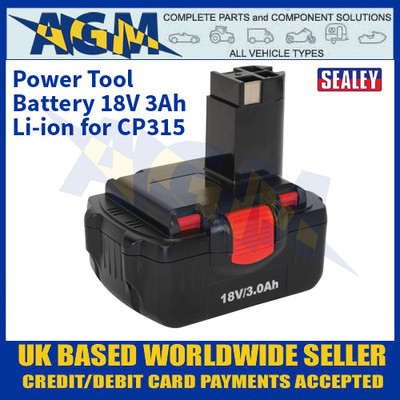 Sealey CP315BP Power Tool Battery 18V 3Ah Li-ion for CP315