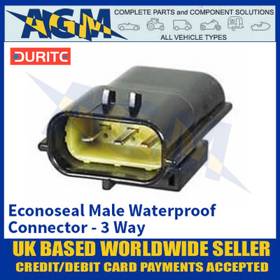Durite 0-012-43 Econoseal Male Waterproof Connector - 3 Way