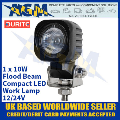 Durite 0-420-22 1 x 10W Flood Beam Compact LED Work Lamp - 12/24V