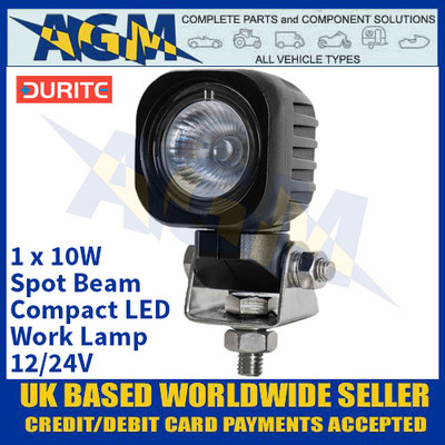 Durite 0-420-23 1 x 10W Spot Beam Compact LED Work Lamp - 12/24V