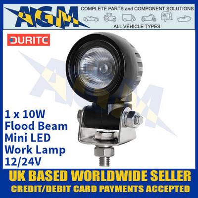 Durite 0-420-24 1 x 10W Flood Beam Mini LED Work Lamp - 12/24V
