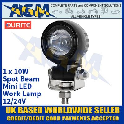 Durite 0-420-25 1 x 10W Spot Beam Mini LED Work Lamp - 12/24V