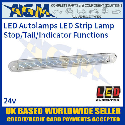 LED Autolamps 235WSI124 Stop/Tail/Indicator Slimline Strip Lamp, 24v