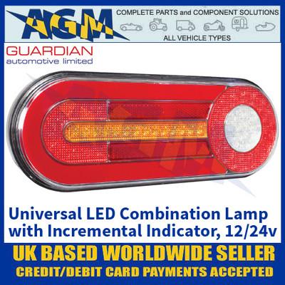 Guardian RL125 Universal LED Combination Lamp with Incremental Indicator - 12/24V