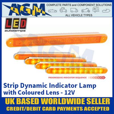 LED Autolamps 235 Series Progressive Strip Dynamic Indicator Lamp - Coloured Lens - 12V