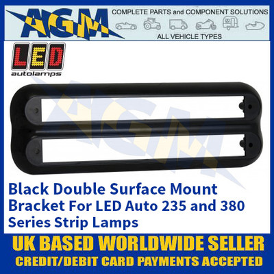 LED Autolamps 235B2B Black Double Strip Lighting Mounting Bracket for 235 and 380 Series