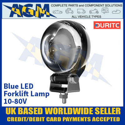 Durite 0-420-21 Blue LED Forklift Lamp 10-80V