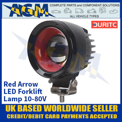 Durite 0-420-14 Red Arrow LED Forklift Lamp 10-80V