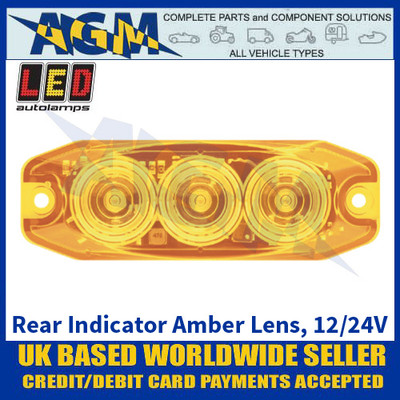 LED Autolamps 11AM Rear Indicator Amber Lens - Low Profile - 12/24V