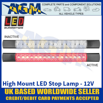 LED Autolamps 285BR12S3 High Mount LED Stop Lamp - Black Caps - 12V