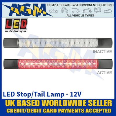 LED Autolamps 285BR12 LED Stop/Tail Lamp - Black Caps - 12V