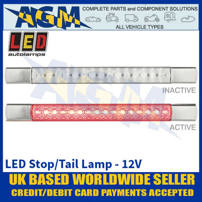 LED Autolamps 285CR12 LED Stop/Tail Lamp - Chrome Caps - 12V