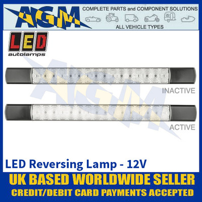 LED Autolamps 285BW12 LED Reverse Lamp - Black Caps - 12V