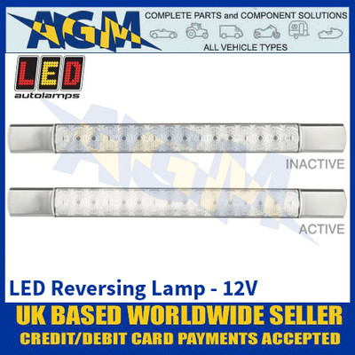 LED Autolamps 285CW12 LED Reverse Lamp - Chrome Caps - 12V