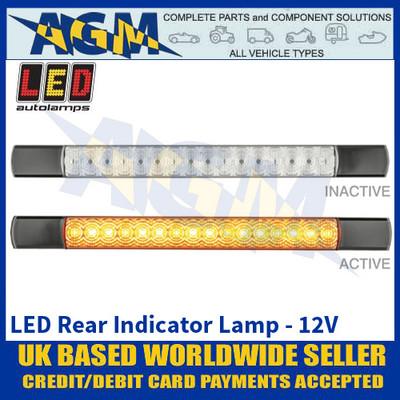 LED Autolamps 285BA12 LED Rear Indicator Lamp - Black Caps - 12V