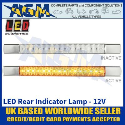 LED Autolamps 285CA12 LED Rear Indicator Lamp - Chrome Caps - 12V