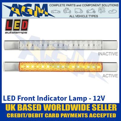 LED Autolamps 285CAT12 LED Front Indicator Lamp - Chrome Caps - 12V