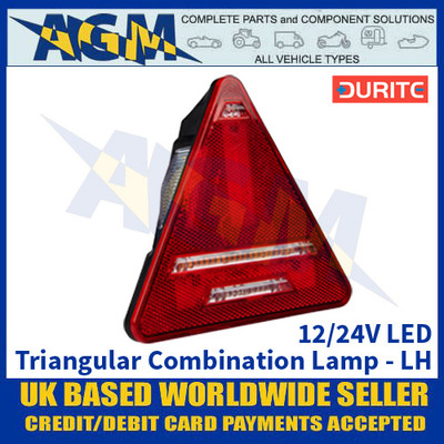 Durite 0-300-61 Triangular Trailer Rear Combination Lamp - Left Side Side - 12/24