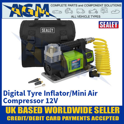 Sealey MAC04D, Digital Tyre Inflator/Mini Air Compressor 12V