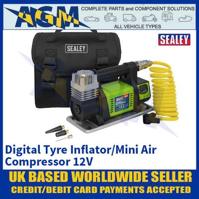 Sealey MAC04D, Digital Tyre Inflator/Mini Air Compressor 12V