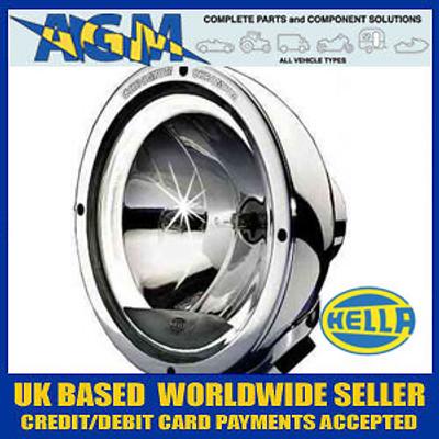 "Hella 1F8 007 560-211 Chrome Luminator Driving Lamp With Celis ""Angel Eye"" Ring"