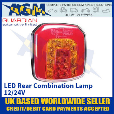 Guardian Auto RL201, LED Combination Lamp with Neon Effect Side Light, 12/24V