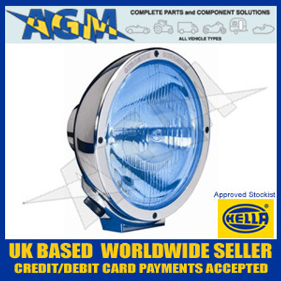 Hella 1F8 007 560-131 Chrome Luminator Driving Lamp With Blue Tinted Lens