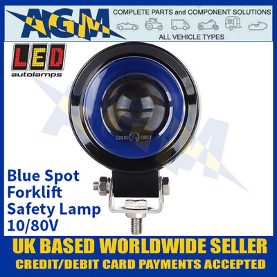 LED Autolamps FLBRS01 Blue Spot Forklift Safety Lamp - 10/80V