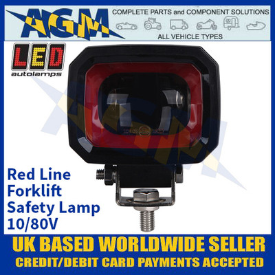 LED Autolamps FLRL01 Red Line Forklift Safety Lamp - 10/80V