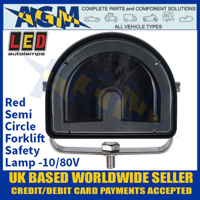 LED Autolamps FLRSC01 Red Semi-Circle Forklift Safety Lamp - 10/80V