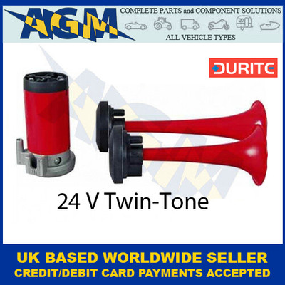 Durite 0-642-04 24 Volt Twin Air Horn Set with Compressor