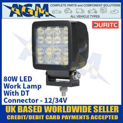 Durite 0-420-32 80W LED Work Lamp With DT Connector - 12/24V