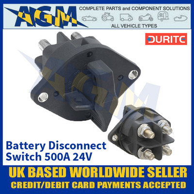 Durite 0-605-80 Battery Disconnect Switch 500A 24V