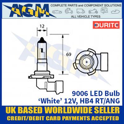 Durite 9006 LED Bulb 12V HB4 RT/ANG - White