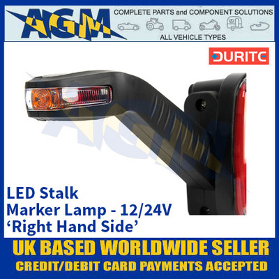 Durite 0-172-85 LED Stalk Marker Lamps - 12/24V - Right Hand Side