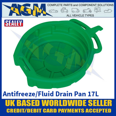 Sealey DRP04 Antifreeze / Fluid Drain Pan - 17 Litres