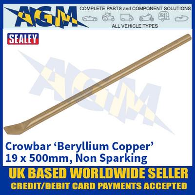 Sealey NS123 Crowbar 'Beryllium Copper' 19 x 500mm 'Non Sparking'