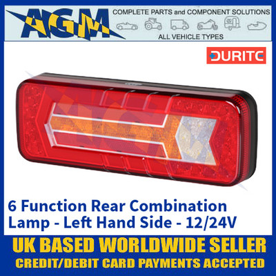 Durite 0-071-65 6 Function Rear Combination Lamp - Left Hand Side - 12/24V