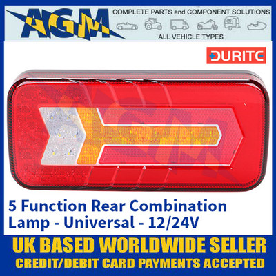 Durite 0-071-55 5 Function Rear Combination Lamp - Universal - 12/24V