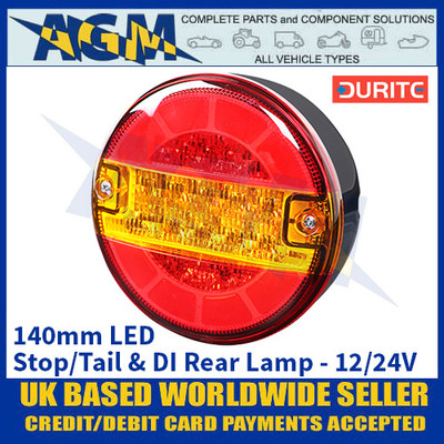 Durite 0-097-50 140mm LED Stop/Tail & DI Rear Lamp - 12/24V