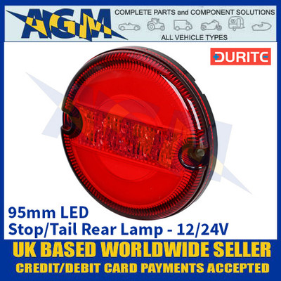 Durite 0-767-44 95mm Rear LED Stop/Tail Lamp - 12/24V