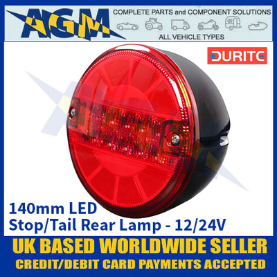 Durite 0-097-54 140mm LED Stop/Tail Rear Lamp - 12/24V