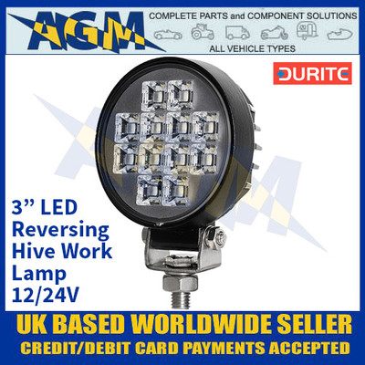 "Durite 0-420-02 3"" LED Reversing Hive Work Lamp - 12/24V"