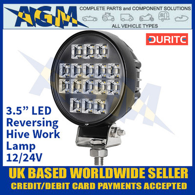 "Durite 0-420-03 3.5"" LED Reversing Hive Work Lamp - 12/24V"