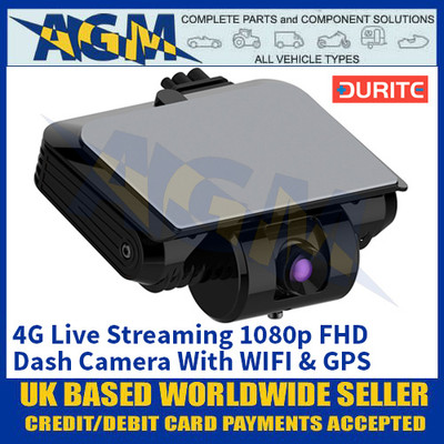 Durite 0-876-08 4G Live Streaming 1080p FHD Dash Camera With WIFI & GPS
