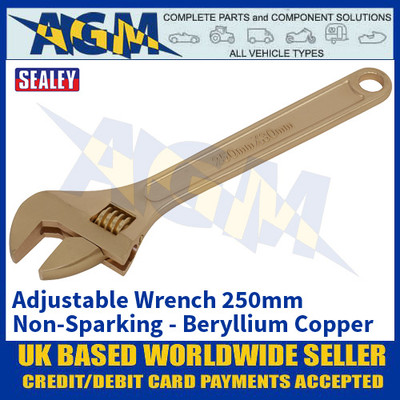 Copy a Product - Sealey NS067 Adjustable Wrench 250mm 'Beryllium Copper' Non-Sparking