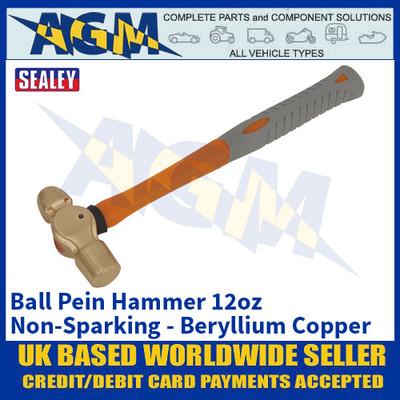 Sealey NS083 Ball Pein Hammer 12oz - 'Beryllium Copper' Non-Sparking